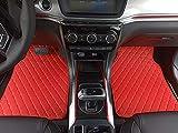 Alfombrilla Para Coche Coches Tapetes Alfombras Tapetes impermeable anti-sucio Tapetes for Kia Nissan Camry Lifan Chrysler 300C todos los coches Alfombrillas Delanteras (Color : Red)