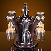 WLABCD ワインラックホームレッドホルダーワイングラスラックバーs、木の形ソリッドウッドの創造的なワイン内閣装飾リビングルームレストラン