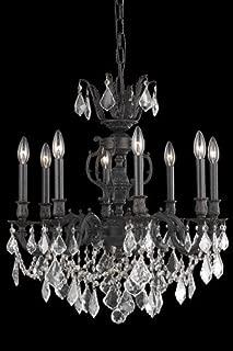 Elegant Lighting 9508D24DB/SS Marseille Collection 8-Light Hanging Fixture with Swarovski Spectra Crystal, Dark Bronze Finish