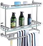 WECDS Estantería de baño de acero inoxidable de doble capa para inodoro de 2 capas (tamaño: 50 cm)