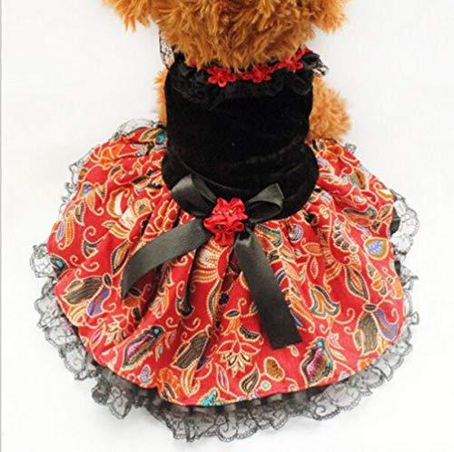 FHKGCD Herfst Winter Huisdier Hond Jurken Voor Kleine Honden Prinses Kat Rok Kleding Huisdier Bruiloft Jurk Party Jurk Xs S M L Xl