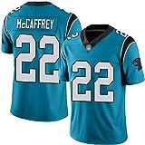 JUNBABY Maillot de Rugby, Carolina Panthers 22# Christian McCaffrey, Maillot de Football-Cyan-M