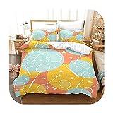 Bedspread Juego de cama de bádminton con estampado de dibujos animados en 3D, funda de edredón suave, juego de funda de almohada, ropa de cama para el hogar, textil-4-Us completo 200 x 230 cm