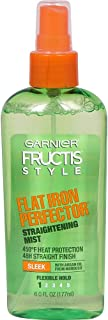 Garnier Fructis Style Sleek & Shine Flat Iron Perfector Straightening Mist 6 oz (Pack of 2)
