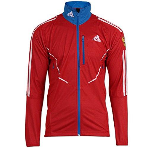 adidas Herren Athleten Jacke Gore Windstopper Team Russia rot (rot-blau, D2 - XS)