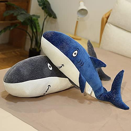 YMQKX 1.2m Juguetes de tiburón de Peluche Gigante Animales de Peluche Juguetes de Peces Almohada de tiburón niño Regalo de cumpleaños para niños muñeca de tiburón Realista 95cm 33cmonepair