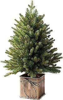 زينة شجرة الكريسماس الاصطناعية , محاكاة تزيين سطح المكتب للمنزل الفاخر 60 سم شجرة عيد الميلاد بتشفير هجين من البولي إيثيلين