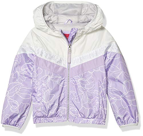 LONDON FOG Girls' Lightweight Mesh Lined Anorak Jacket, Lavender Midweight, 5/6