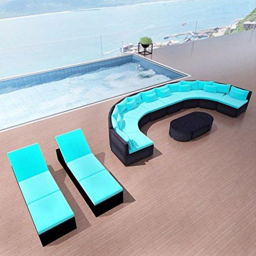 cangzhoushopping rotan tuinmeubelset tuinmeubelen lounge set tuinbank lounge set tuinbank lounge set met ligstoelen poly rotan blauw