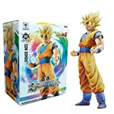 Banpresto 49762 Dragon Ball Z Master Stars Piece King of Coloring Super Saiyan Son Goku Action Figure, 26,7 cm