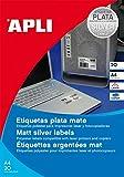 agipa 12975 Typenschild-Etiketten, rund, Durchmesser 40 mm, silber