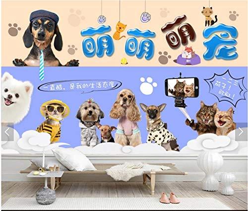 Yirenfeng Meng-Haustierhaustierkrankenhausmode-Haustiershop-Schönheitssalonhintergrundwand