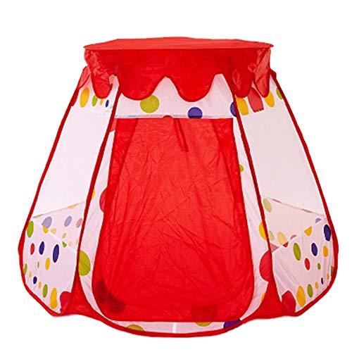 #N/V Tienda de Niños Hexagonal Bola Piscina Con Cubierta Bebé Plegable Interior Y Al Aire Libre De La Casa De Juego De Princesa Castillo