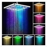MeiKeL - Cabezal de ducha LED con control de temperatura digital, 3 modos de pulverización, filtro de ducha para ahorro de agua con luz LED para ducha (color: C de gran gama alta)