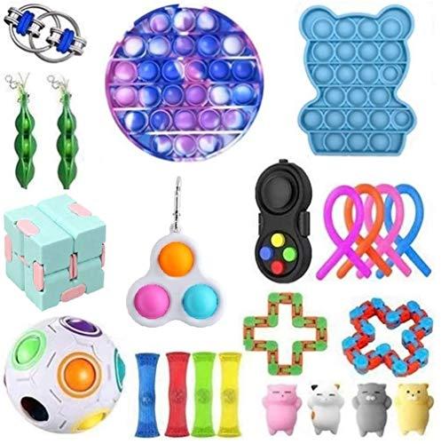 Mubineo Sensorische Fidget Spielzeug-Satz für Kinder oder Erwachsene Fidget Toys Pack-Hand Spielzeug Stress-Angst Relief Spielzeug Set für ADHS (Toy Set EG)