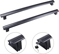 AUTOMUTO Cross Bars fit for 2011 2012 2013 2014 2015 2016 2017 2018 Jeep Grand Cherokee Aluminum Black Roof Top Bar Luggage Carrier with Lock