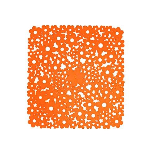 Shark 070/530181 Tappeto Antiscivolo in Gomma per Doccia, 53 x 53 cm, Arancione