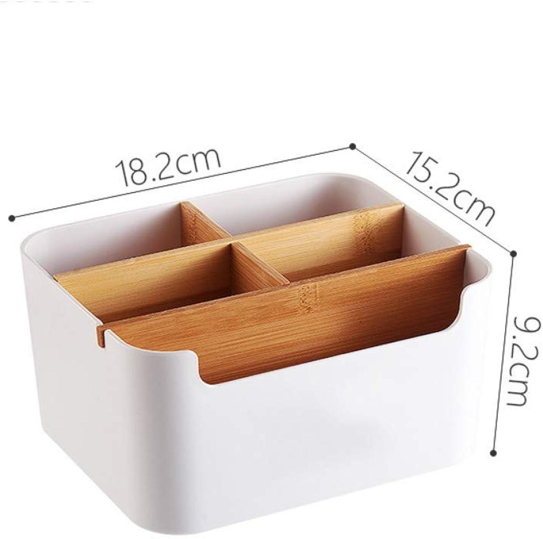 DJYdzsw AufbewahrungsboxDesktop Couchtisch Fernbedienung Empfangsbox Kunststoff Kunststoff Kunststoff Wohnzimmer Schlafzimmer Büro Schreibwaren Bambus und Holz Finishing Box, Aufbewahrungsbox B07PKN4VHX 57e799