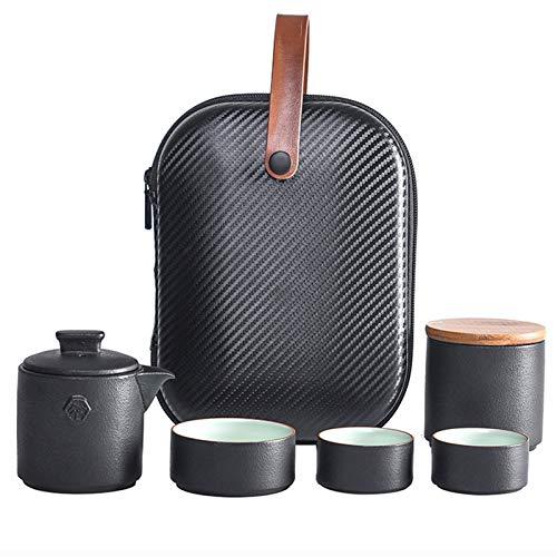 Getrichar Juego de té, Juego de té Simple y Moderna, el Sistema Portable de té de cerámica, cerámica Set de Regalo (Color : B)