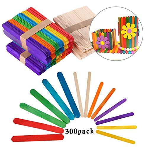 【Paquete incluido】: - Obtendrá 100 piezas 114 mm * 10 mm * 2 mm varillas de madera de color, 100 piezas 140 mm * 10 mm * 2 mm palitos de madera natural y 100 piezas 150 mm * 18 mm * 1,6 mm palitos de madera de colores. 【Excelente calidad】: -madera na...