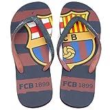 FCBarcelona Chanclas Hombre Verano Playa Piscina - Sandalias Goma Planas Caminar Zapatos colección Futbol Club Barcelona - Barça zapatillas edición limitada - Escudo FCB Talla XL 45-46