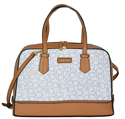 Calvin Klein Bag Monogrammed Dome Satchel Khaki Handag Purse