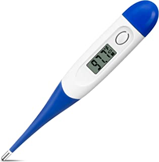 Digital Thermometer,Accurate Temperature Thermometer, LCD Display 60 Seconds Instant Reading Thermometer Waterproof Mercury-Free (Fahrenheit) (1 Pack)