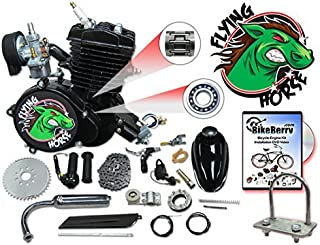 BBR Tuning 66/80cc Black Motorized Bicycle Kit – 2 Stroke Gas Powered Bike Motor Engine