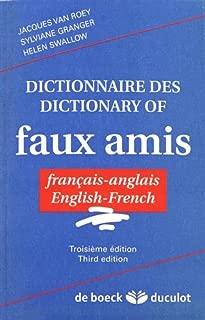 dictionnaire des faux-amis, francais-anglais, anglais-francais