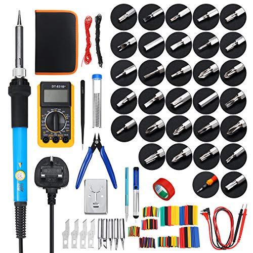 ILS – 379 piezas 60 W eléctrico Soldar Hierro Kit de Soldar...