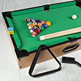Global Gizmos 80390 Table Top Pool Game | Full Miniature Set | Kids/Adults/Family | Lightweight & Portable