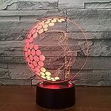 Lámpara De Ilusión3D Light Night Lamp Drum Set 3D Night Light Led Remote Touch Musical Instruments Table Lamp 3D Lamp 7 Colors Usb Indoor 3D Lamp-Bfsa1233