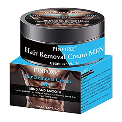 Hair Removal Cream for Men, Depilatory Cream, Prevent Hair Growth, No Irritation, Painless Hair Removal Cream plus Plastic Scraper, Used on Underarm,Chest, Back, Legs and Arms for Men