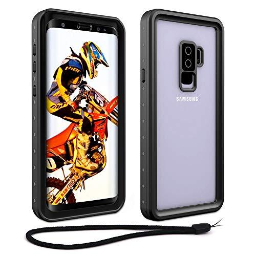 Beeasy Funda Samsung Galaxy S9 Plus,Impermeable 360 Grados Protección IP68 Carcasa S9+ Antigolpes Rígida Robusta Resistente al Impacto Militar Duradera Blindada Fuerte Seguridad Case Cover,Negro