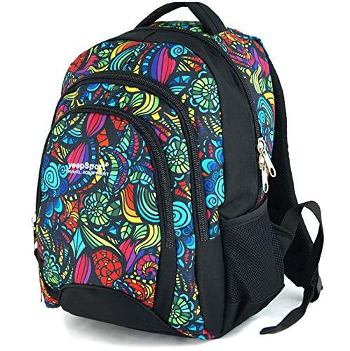 YeepSport Schulrucksack für Schule, Rucksack für Arbeit und Freizeit 30l, Jugendliche Mädchen und Jungs - 21811 Mandala