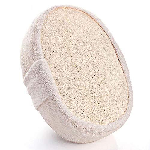 Tingz 2 piezas de esponja de lufa para lavar,juego de exfoliación corporal con esponja de lufa 100% natural,grosor 14.5cmx10cmx5cm,utilizado para bañarse,ducharse,fregar, etc.
