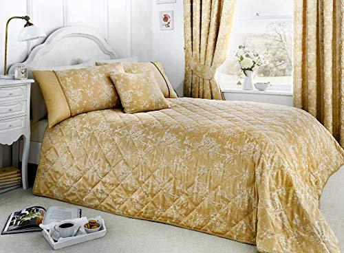 Serene - Jasmine Tagesdecke, gesteppt, pflegeleicht, 240 x 220 cm, champagnerfarben / goldfarben