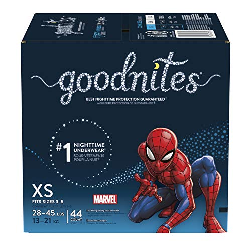 Goodnites Bedtime Bedwetting Underwear for Boys, Xs, 44 Ct. (Packaging May Vary) 44 count