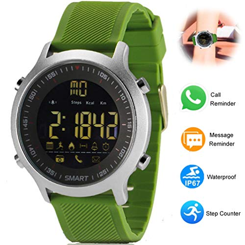 Agkey Bluetooth Smart Watch Waterproof Smartwatch Sports Smart Watches for Men Women Boys Kids Compatible with Android iOS iPhone Samsung LG BLU Motorola (Green)