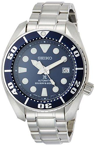 SEIKO PROSPEX Relógio masculino mergulhador mecânico auto-corda (com corda manual) impermeável 200 m Rígido Rex SBDC033