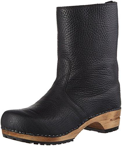 Sanita Damen Wood puk Boot Schlupfstiefel, Schwarz (Black 2), 41 EU