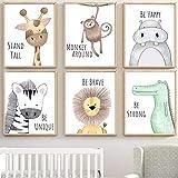 Lorcoo Cuadros Infantiles, Juego de 6 pósteres para habitación de bebé laminas para cuadros...