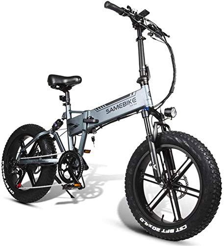 MQJ Ebikes Electric Bicycle, Batería de Litio de la Bicicleta de Montaña de Montaña de la Luz Plegable de la Bicicleta de Montaña 48V10Ah, Resistencia de 30-50 Km, Asiento Ajustable, Gran Carga de Ca