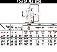 オートバイPWK21mm 24ミリメートル26ミリメートル28ミリメートル30ミリメートル32ミリメートル34mmcarburetorレーシングoko炭水化物スクータージョグdio KR150 RTL250 CR125 NSR50 NSR80-28mm