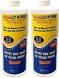 SunHeater Solar Blanket Liquid HeatShield SHS32 Solar Blanket in a Bottle (Pack of 2)
