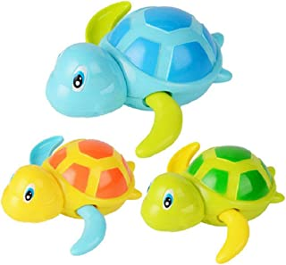 Nrpfell Baby Bathing Bath Swimming Tub Pool Toy Cute Wind Up Turtle Animal Bath Toys Set for Kids,Pack of 3