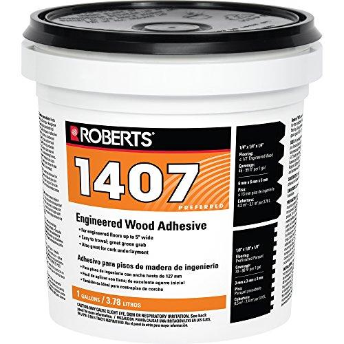 QEP CO INC ROBERTS 1407-1 Multipurpose-Flooring-adhesives, 1 Gallon, Beige