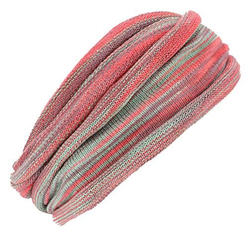 Guru-Shop Doppel Haarband, Magic Hairband, Dread Wrap, Schlauchschal, Stirnband, Herren/Damen, Rot/grün, Baumwolle, Size:One Size, Stirnbänder Alternative Bekleidung