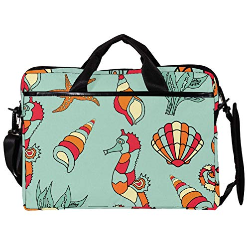 Shell Conch Laptop Bag Unique Printed Compatible with 13-13.3 inch MacBook Pro, MacBook Air,Notebook Computer 11x14.5x1.2in
