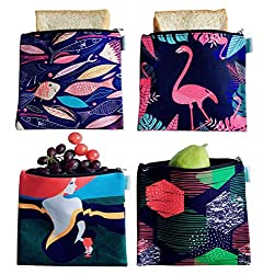 Reusable Snack or Sandwich bags In Dark Colors